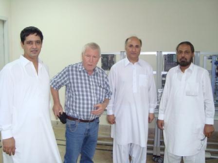 Dr Hans Laufer, Dr Iftikhar Hussain (Chairman Industrial Engineering), Mr. Sahibzada Saleem Ur Rehman (CEO), Mr. Mohammad Fawad (Director Procurement)